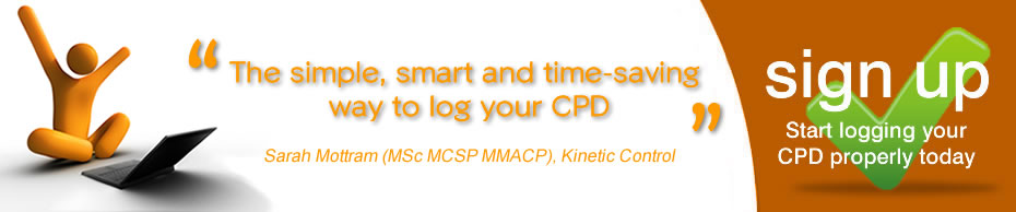 sign up and start logging your cpd properly today